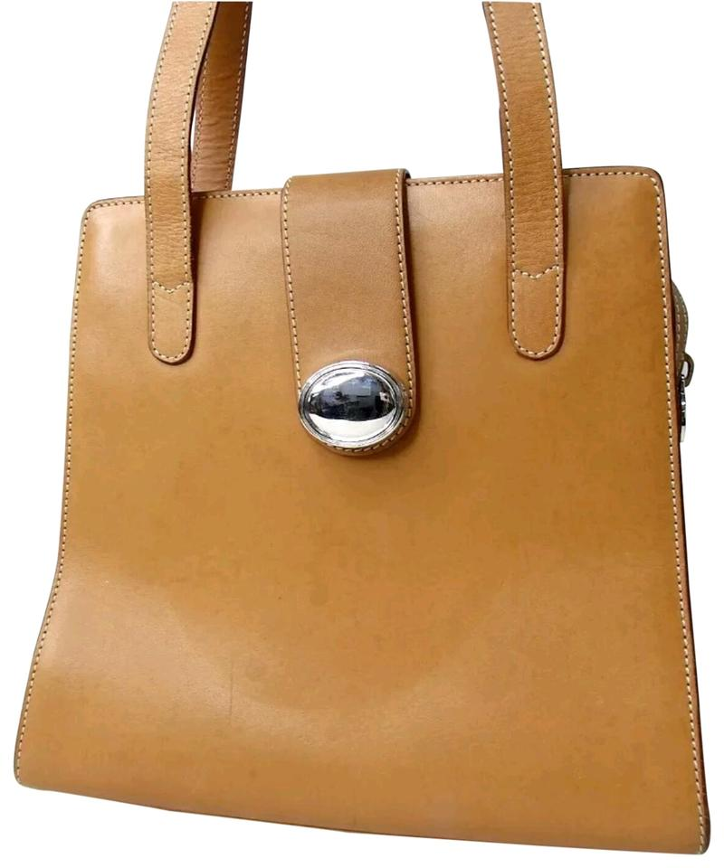 d1e282447d8 Tiffany & Co. Shoulder Light Silver Tote Satchel Brown Leather Hobo ...