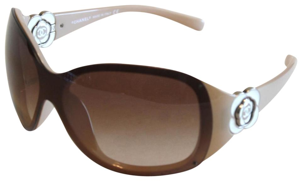 6fbe83ad71cf Chanel Chanel Sunglasses 6032 Taupe Brown Enamel Camellia Flower Image 0 ...