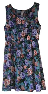 Pink Owl short dress Blue Floral on Tradesy