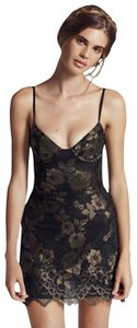 For Love & Lemons And Mini Gold Lace Dress