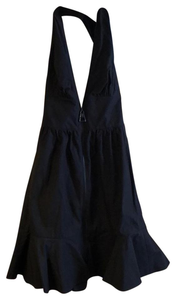 Louis Vuitton Black Plunging Short Cocktail Dress Size 2 Xs Tradesy