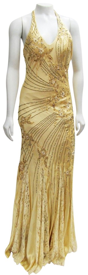 Sue Wong Beaded Embellished Embroidered Dress