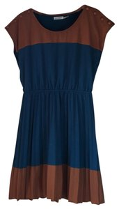 Blu Pepper short dress Blue/Mustard on Tradesy