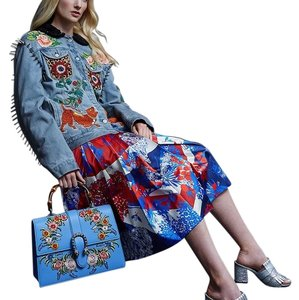 Gucci Satchel in floral & blue
