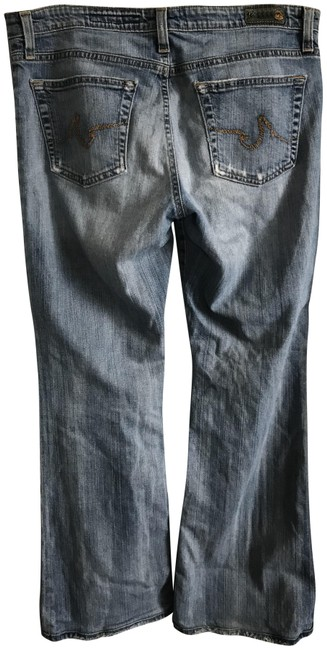 """Item - Blue Distressed The Angel 31/27""""Inseam Boot Cut Jeans Size 31 (6, M)"""