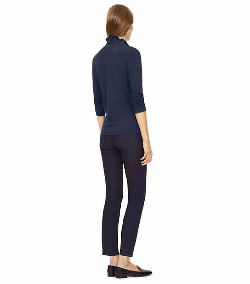 5a8958bfd369 Tory Burch Navy New with Tag Long-sleeve Lidia Polo Button-down Top ...