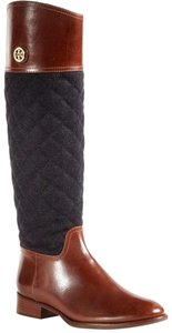 Tory Burch Riding Quilted Leather Brown Boots