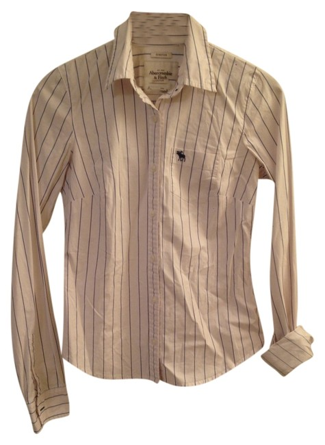 Abercrombie & Fitch Flash Sale Button Down Shirt Striped White