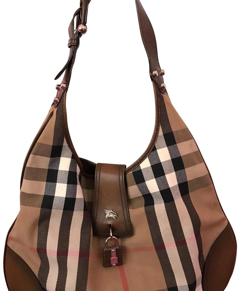 7ff6dcd48984 Burberry Prorsum Brown Leather and Canvas Hobo Bag - Tradesy