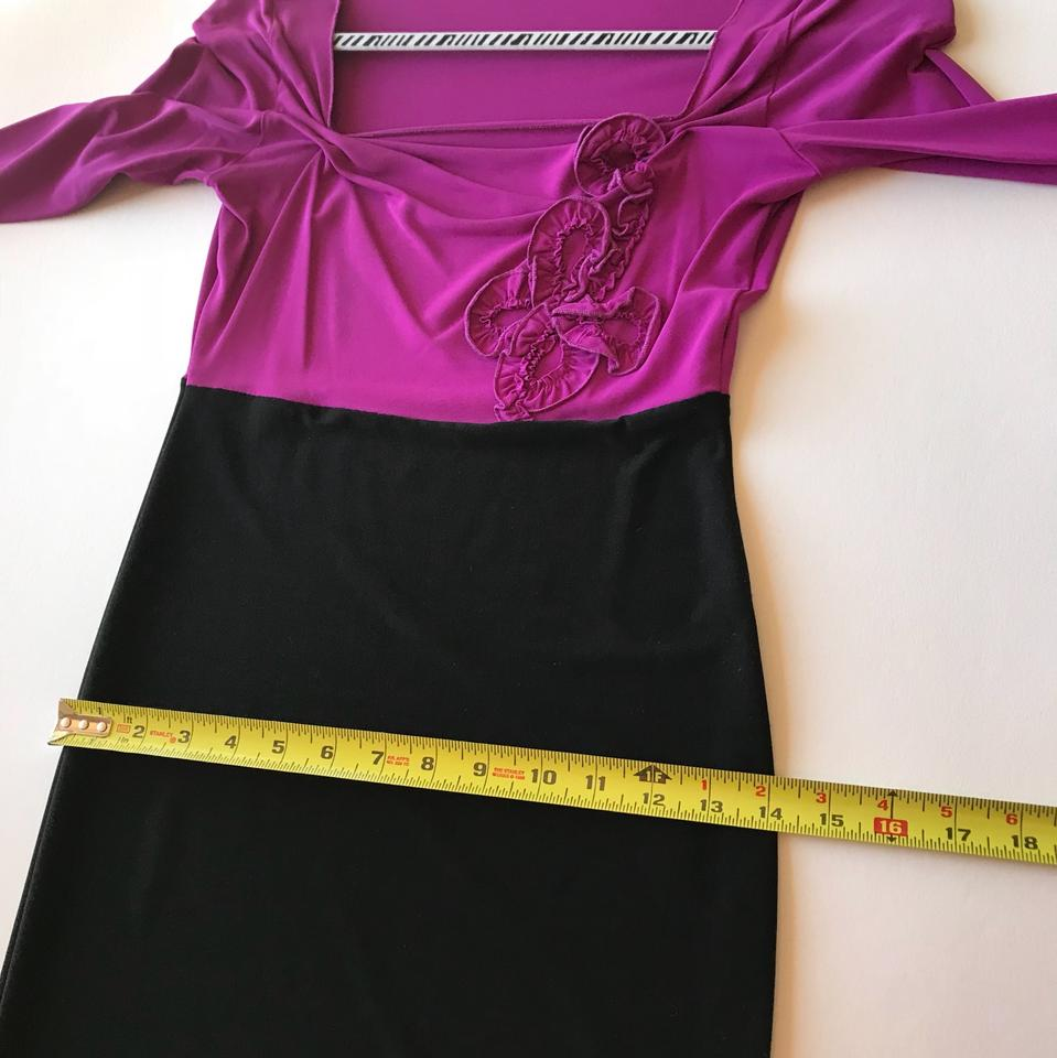 Roccobarocco pink black italian designer mid length cocktail dress 12345 ombrellifo Image collections