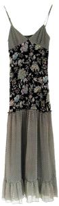 black white green yellow Maxi Dress by Anthropologie Floral Maxi