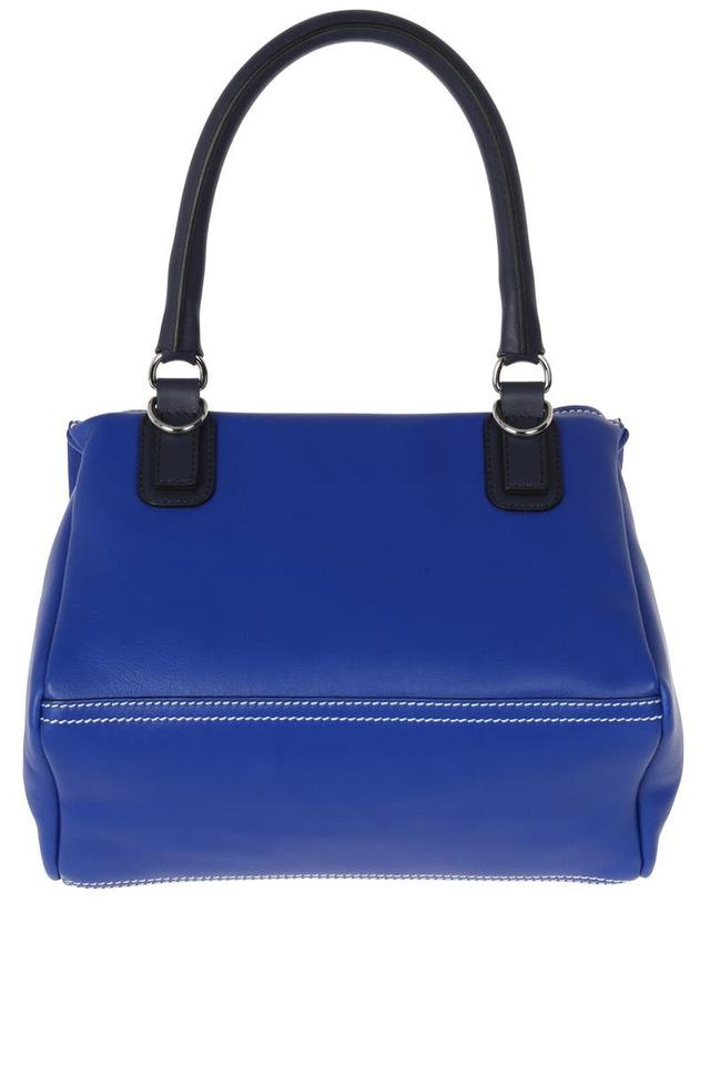af4110b1829 Givenchy Small Pandora with Logo Strap Blue Leather Satchel - Tradesy