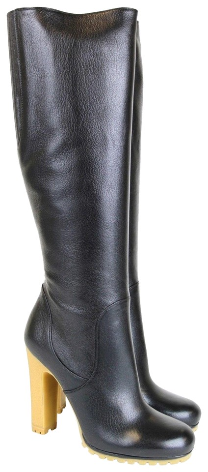 online store df882 f104a Gucci 323548 Leather Stivale Pelle Luxor Tall Knee It 37 / Boots/Booties  Size US 7 Regular (M, B)