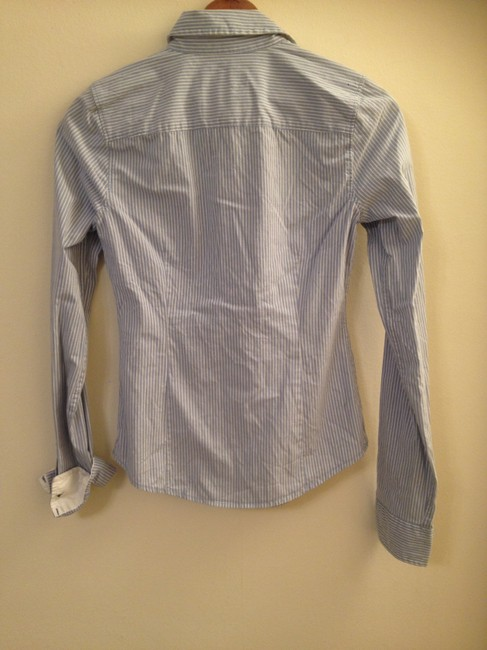 Abercrombie & Fitch Stretch Office Button Down Shirt Blue