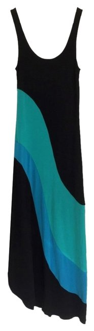 Preload https://item1.tradesy.com/images/urban-outfitters-black-blue-green-color-blocked-knit-slit-detail-us-small-long-casual-maxi-dress-siz-2296635-0-0.jpg?width=400&height=650