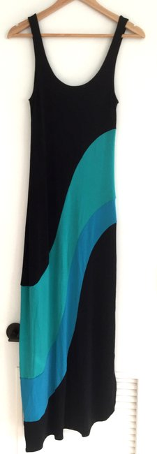 black blue green Maxi Dress by Urban Outfitters