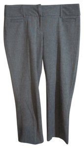 Express Ankle Houndstooth Hidden Hook Straight Pants Black