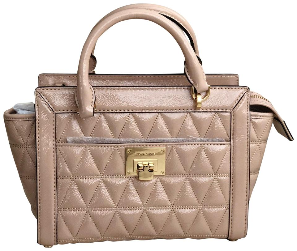 5f962c8c9c3b MICHAEL Michael Kors Vivianne Small Top Zip Messenger Quilted Oyster ...