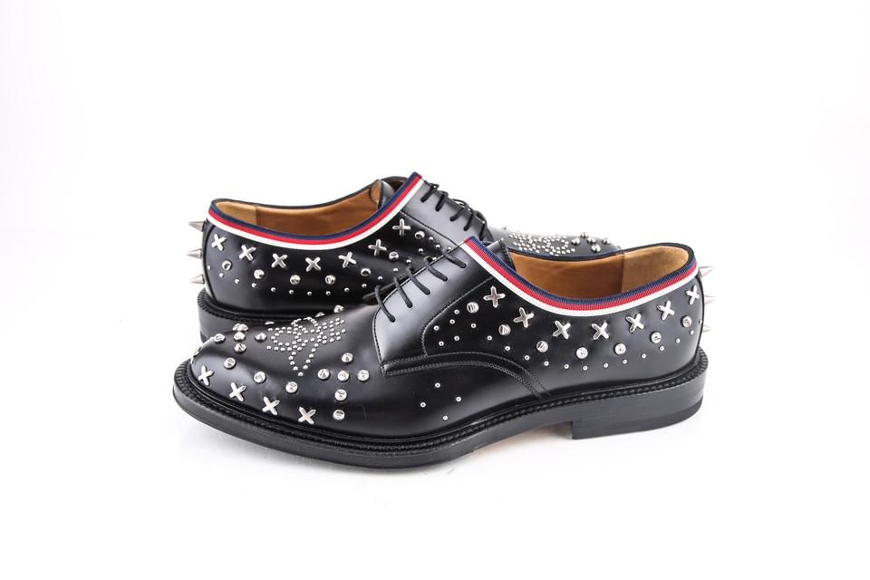 db945b24054deb Gucci * Black Leather Lace-up with Studs Shoes Image 0 ...