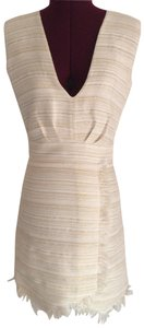 Sheri Bodell short dress Off white with gold details on Tradesy