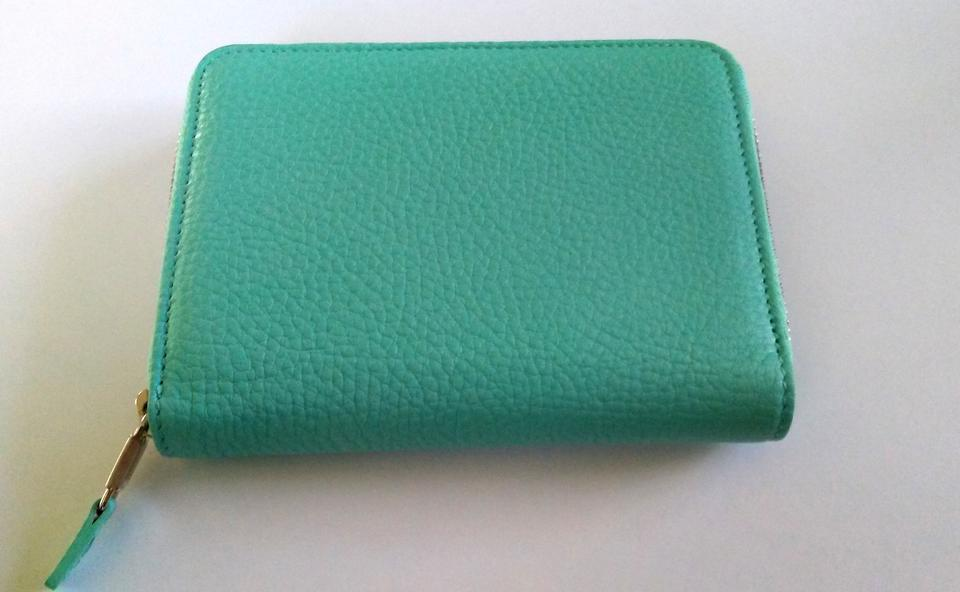 10edafc211c Tiffany & Co. Light Blue Co Signature Leather Smart Zip and Phone Case  Iphone Wallet - Tradesy
