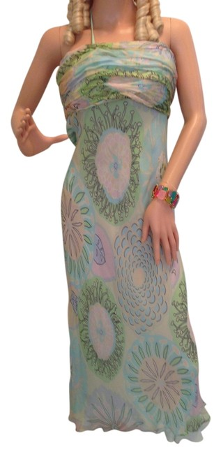 aqua Maxi Dress by Heidi Weisel