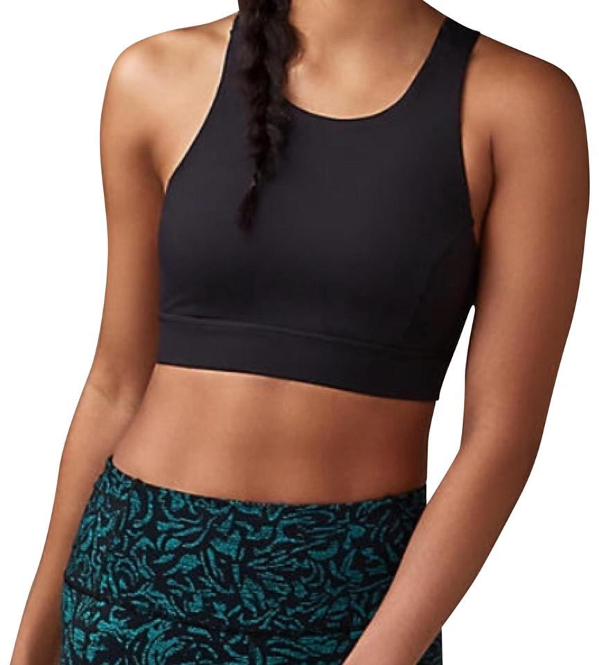 3056875fa Lululemon Black Fast and Free - - Activewear Sports Bra. Size  12 (L) ...