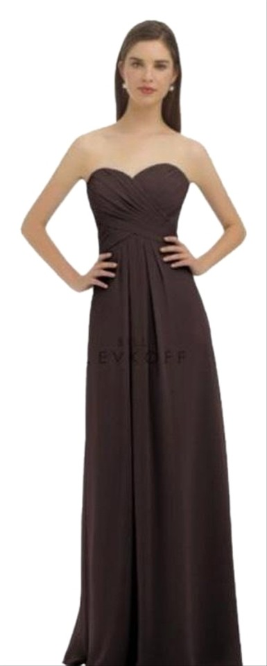 Bill Levkoff Chocolate Brown 325 Long Formal Dress Size 6 S Tradesy