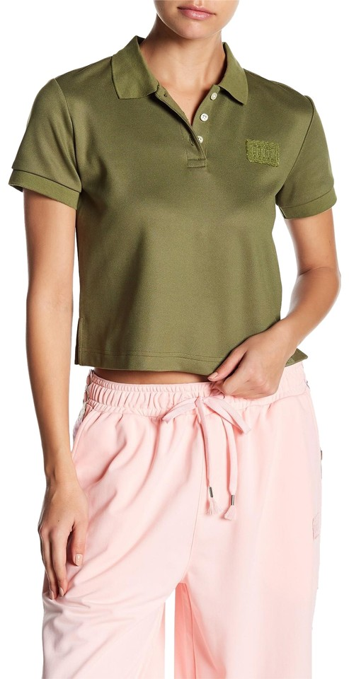 724ca332628 FENTY PUMA by Rihanna Ivy Park Cropped White Ivory Shirt Top Olive Branch  Green ...