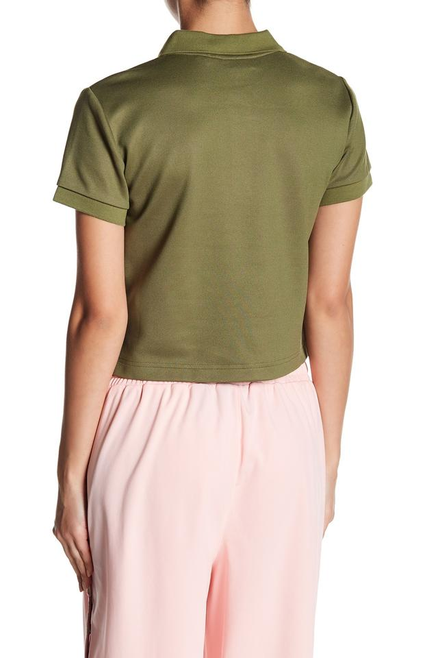 sale retailer 86df9 4e1e1 FENTY PUMA by Rihanna Olive Branch Green Baby Crop Polo Shirt Blouse Size  12 (L) 27% off retail