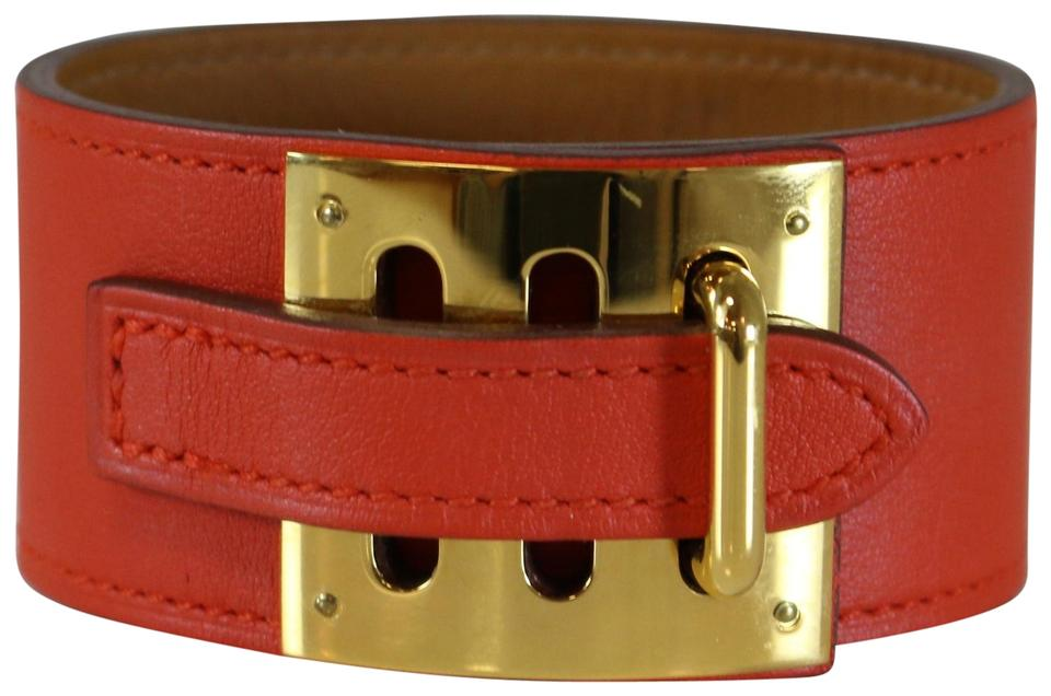 Hermès Hermes Red Orange Intense Bracelet M