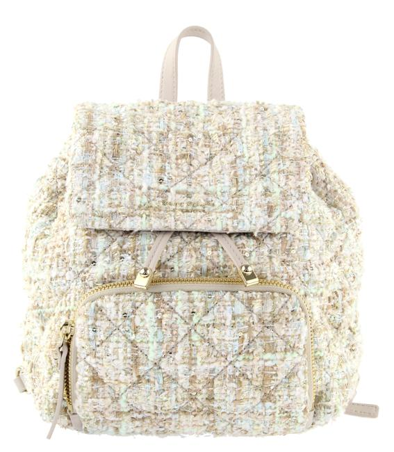 Item - Jessa White Light Pink Metallic Gold and Silver Tweed Backpack