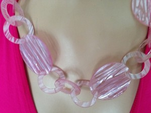 Pastel Pink CIrcle Necklace