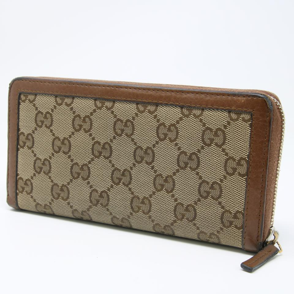 ef625d31ec15da Gucci Brown Signature Gg Canvas Bamboo Tassel Long Zippy Continental Wallet