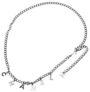 Chanel Chanel Silver Chain Belt / Necklace with Signature CC Charms