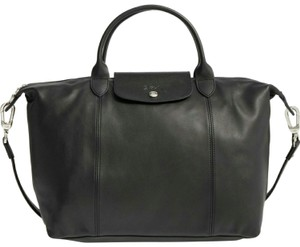 Longchamp Tote in Black leather tote