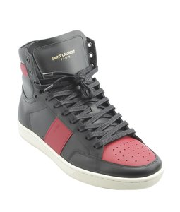 Saint Laurent Yves Sneakers Leather RedxBlack Boots