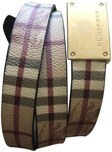 Burberry Classic check, multicolor coated canvas Burberry belt 100/40