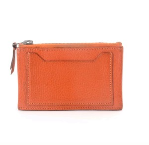 Hermès Hermes orange clarisse pm leather coin purse card holder case wallet