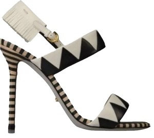 Sergio Rossi Black & White Sandals