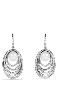David Yurman *NWT* David Yurman Crossover Pearl Drop Earrings with Diamonds
