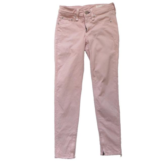 Item - Pink Light Wash Skinnies Skinny Jeans Size 24 (0, XS)