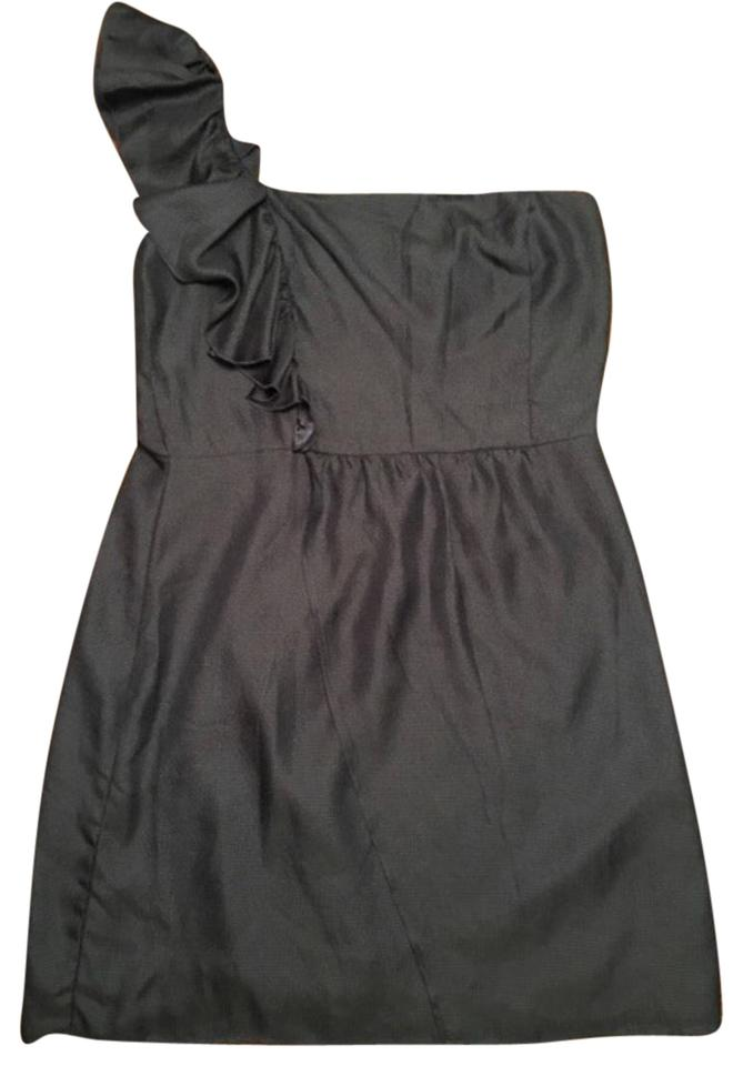 a92d6f7f1a8 Gianni Bini Navy Ruffled One Shoulder Short Cocktail Dress Size 12 ...