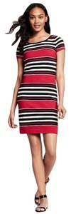 Banana Republic short dress red Stripe Ponte on Tradesy