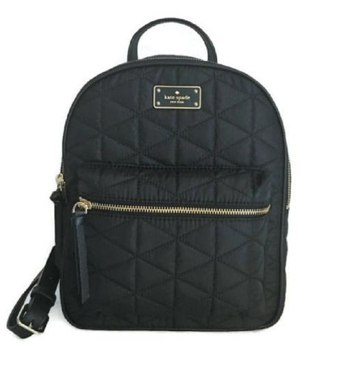 Kate Spade Small Bradley Lightweight Quilted Black Nylon