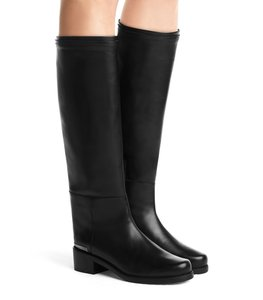 Stuart Weitzman Touring Sw Rug Sole Riding Kate Middleton Black Boots