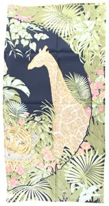Salvatore Ferragamo Jungle Giraffe Scarf 12MR0222