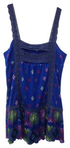 Free People short dress Blue, black, Multicolor Floral Print on Tradesy