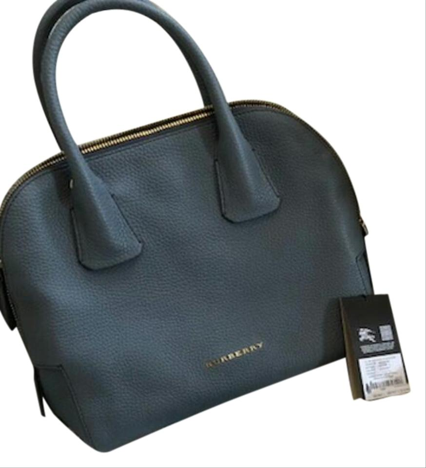 c71555129c Burberry Greenwood Leather Bowling Black Satchel in GREY STORM Image 0 ...