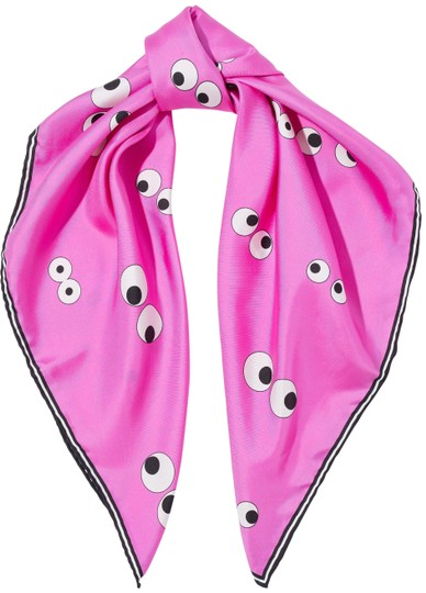 Preload https://img-static.tradesy.com/item/22968862/anya-hindmarch-bright-pink-printed-silk-satin-faille-scarfwrap-0-1-540-540.jpg